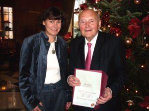 Friederike Haufe und Prof. Dr. Dr. Hermann Rauhe Foto: Uta Leber